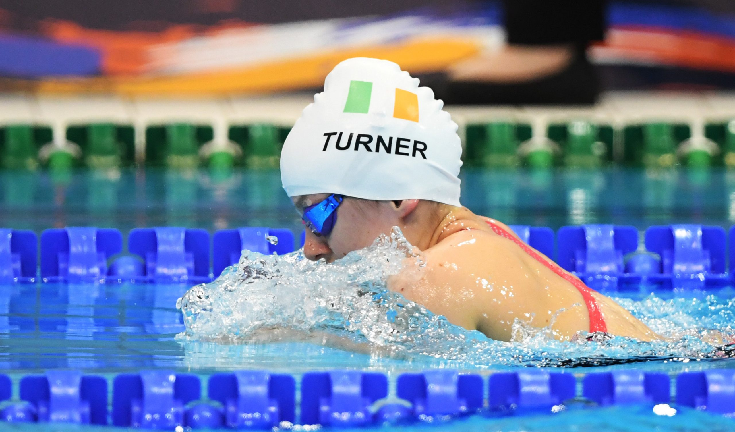 15 September 2019: Nicole Turner of Ireland competes in the final of the Women's 100m Breaststroke during day seven of the World Para Swimming Championships 2019 at London Aquatic Centre in London, England. Photo by Tino Henschel/Sportsfile