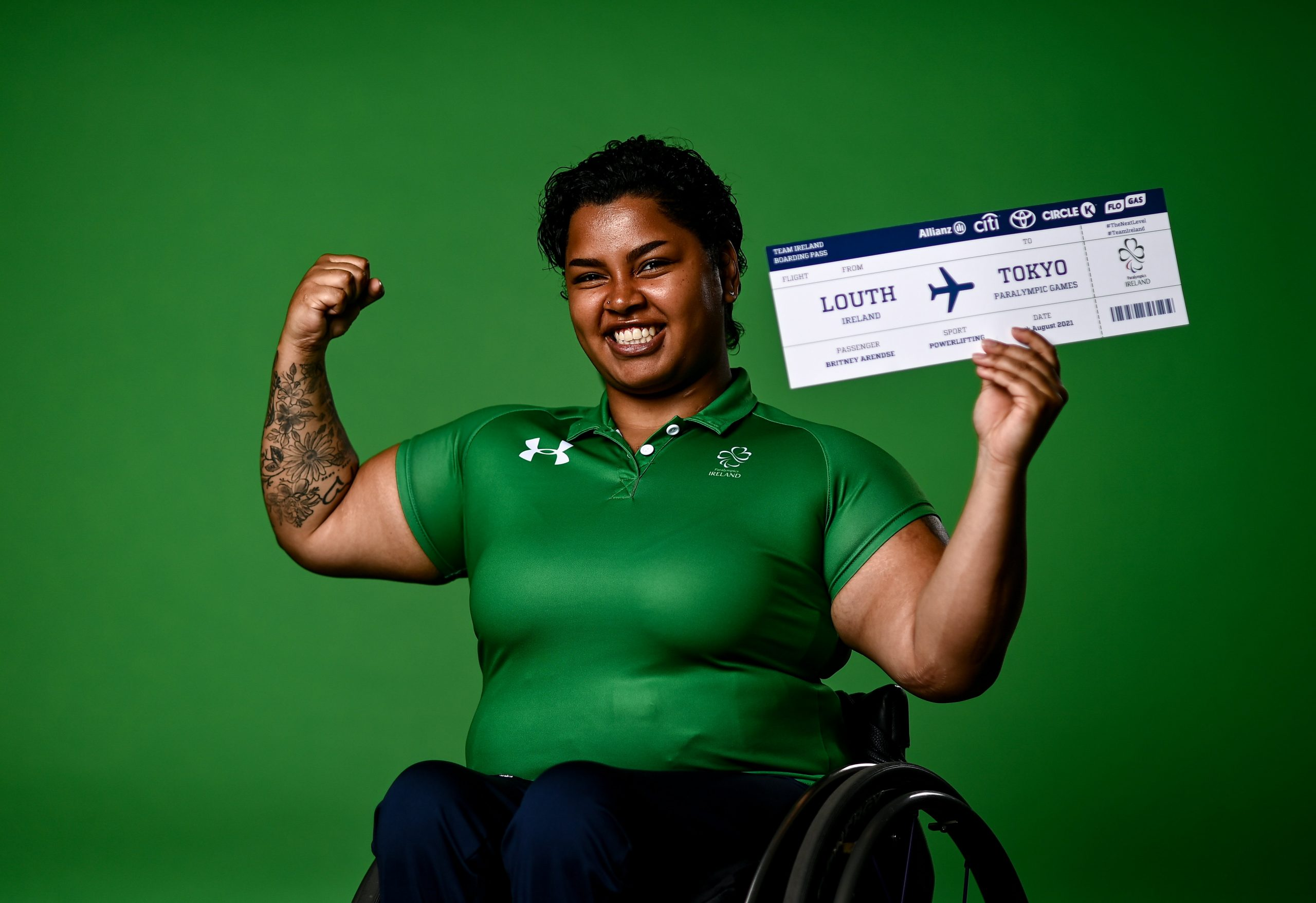 21 July 2021; Power lifter Britney Arendse at the National Sports Campus Conference Centre, Abbotstown in Dublin. Photo by David Fitzgerald/Sportsfile *** NO REPRODUCTION FEE ***