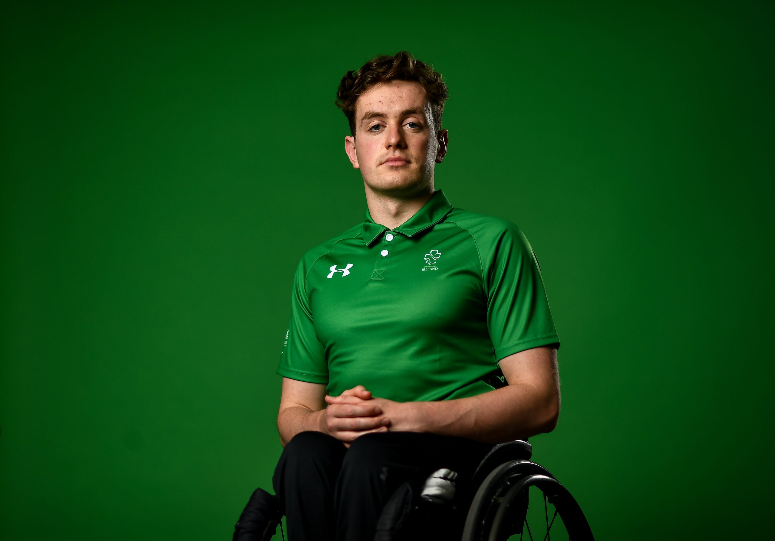22 July 2021; Swimmer Patrick Flanagan during a Tokyo 2020 Paralympic Games Team Announcement at Abbotstown in Dublin. Photo by David Fitzgerald/Sportsfile *** NO REPRODUCTION FEE ***