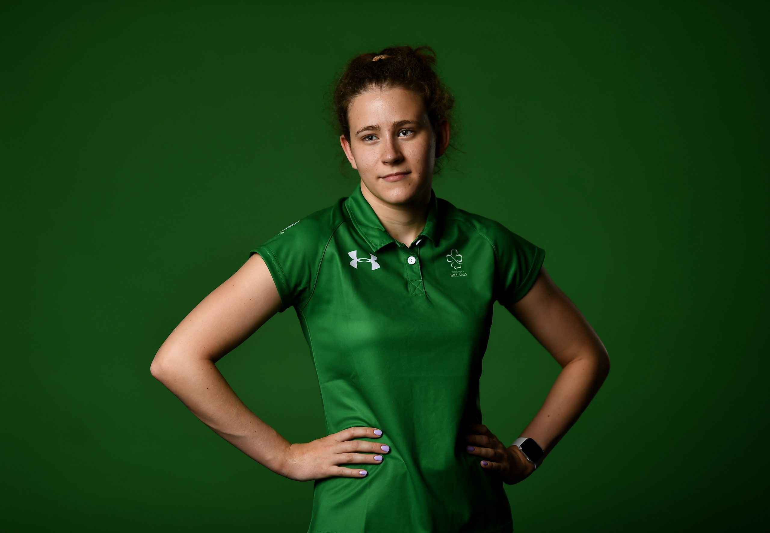22 July 2021; Swimmer Róisín Ní Riain during a Tokyo 2020 Paralympic Games Team Announcement at Abbotstown in Dublin. Photo by David Fitzgerald/Sportsfile *** NO REPRODUCTION FEE ***