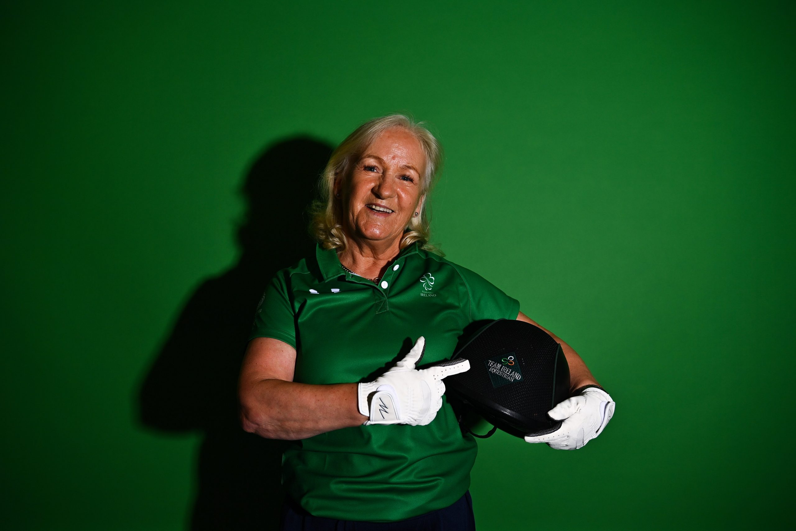 30 July 2021; Rosemary Gaffney during a Tokyo 2020 Paralympics Ireland announcement of four riders that will represent Ireland at the Tokyo 2020 Paralympic Games. The athletes are Michael Murphy with Clever Boy, Tamsin Addison with Fahrenheit, Kate Kerr Horan with Serafina T and Rosemary Gaffney with Verona. Photo by Eóin Noonan/Sportsfile *** NO REPRODUCTION FEE ***