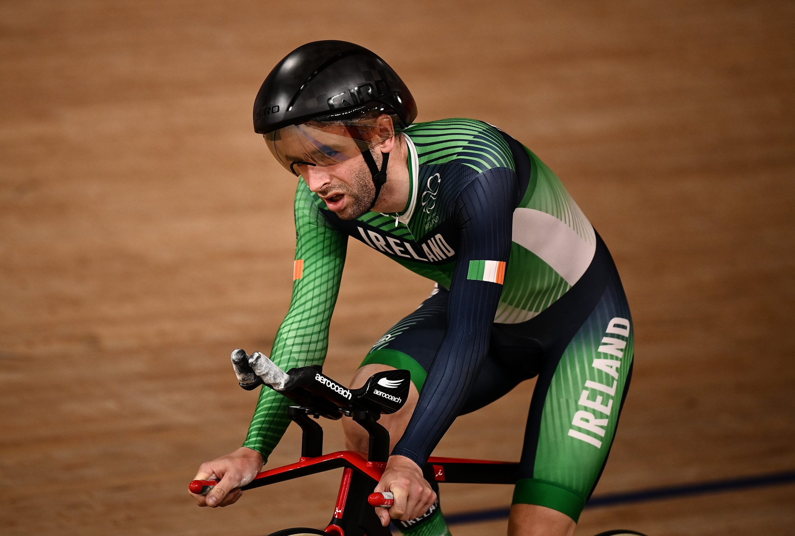 27 August 2021; Ronan Grimes of Ireland after finishing fourth in the Men's C4 4000 metre Individual Pursuit final at the Izu Velodrome on day three during the Tokyo 2020 Paralympic Games in Shizuoka, Japan. Photo by David Fitzgerald/Sportsfile *** NO REPRODUCTION FEE ***
