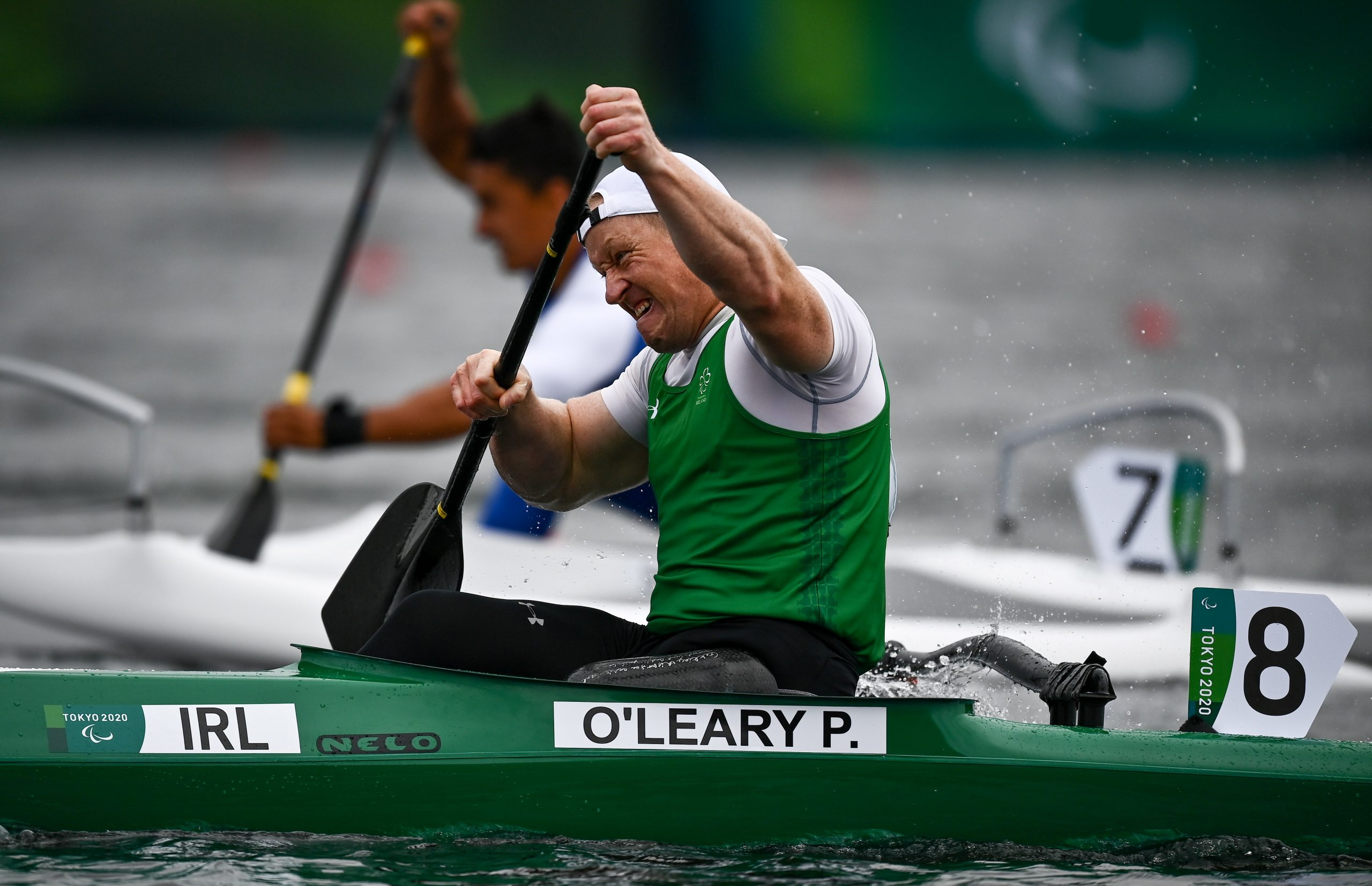 4 September 2021; Patrick O'Leary of Ireland competing in the Men's VL3 200 metre sprint A final at the Sea Forest Waterway on day eleven during the Tokyo 2020 Paralympic Games in Tokyo, Japan. Photo by David Fitzgerald/Sportsfile  *** NO REPRODUCTION FEE ***