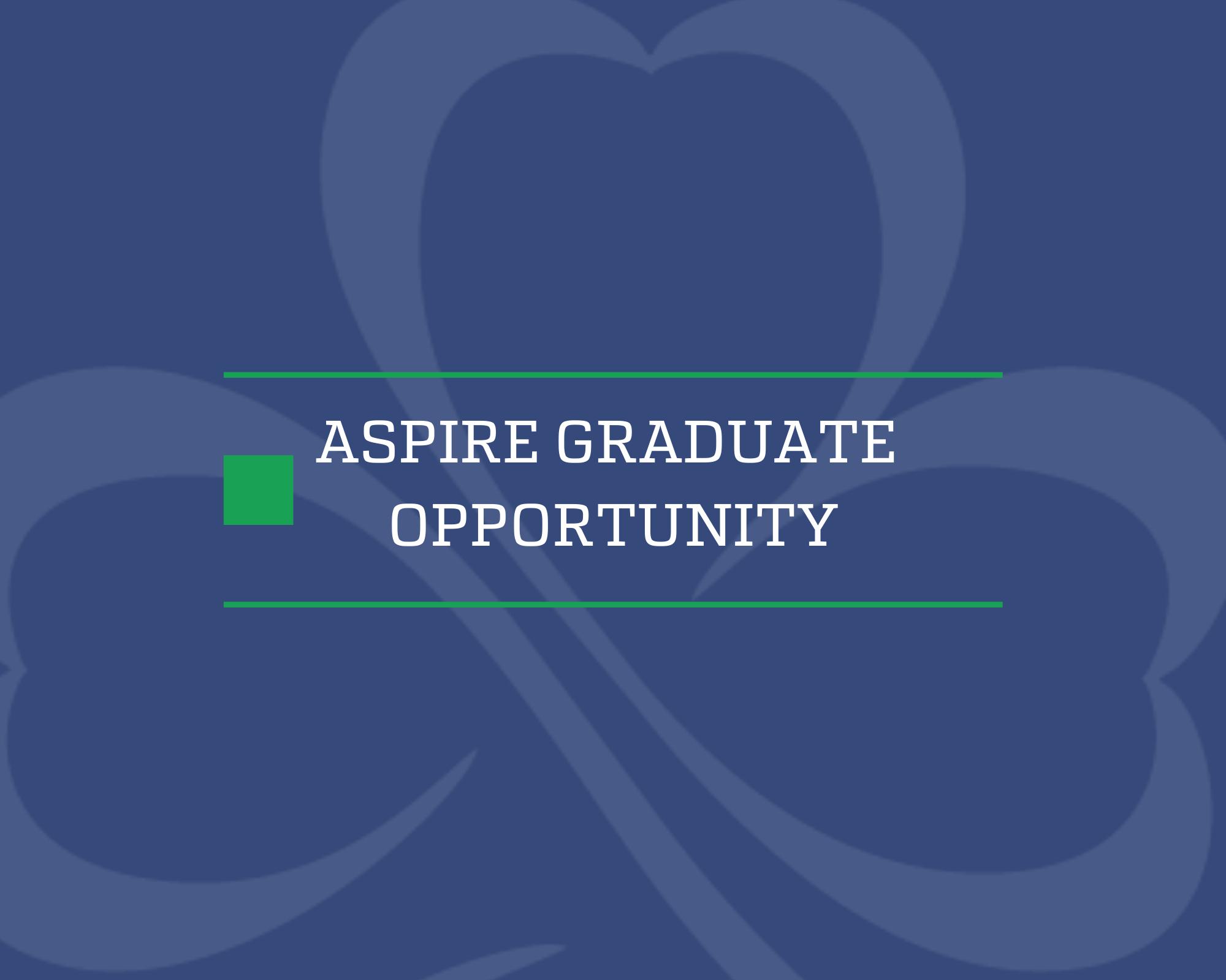 Website ASPIRE GRADUATE OPPORTUNITY